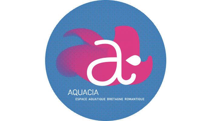 logo aqaucia espace aquatique bretagne romantique