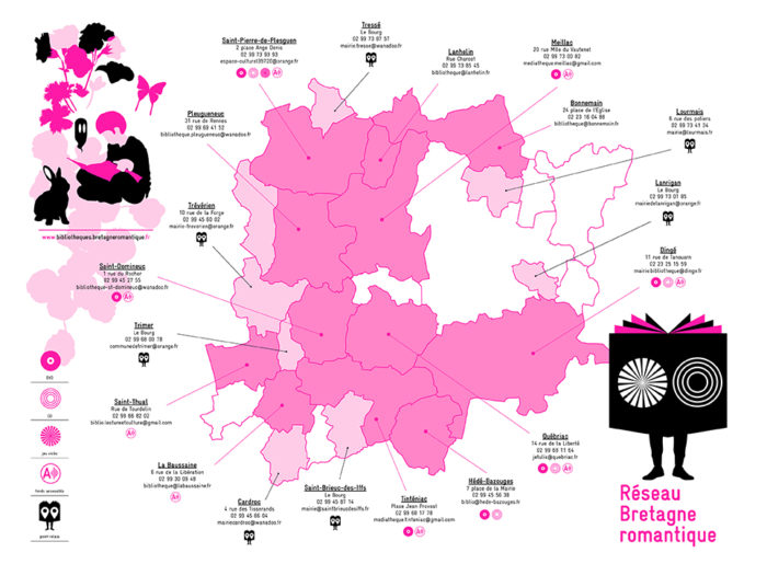 Carte du réseau des bibliothèques