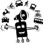 Mascotte mobilité de la Bretagne romantique