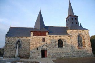 église des Trois Marie à Cardroc en bretagne romantique