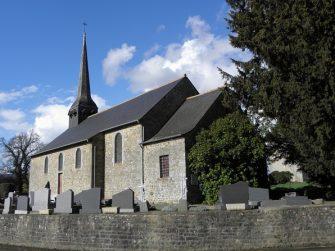Eglise St-martin à Lanrigan en bretagne romantique