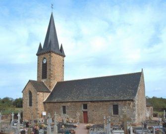 église de lourmais en bretagne romantique