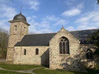 église de St Brieuc des Iffs en bretagne romantique