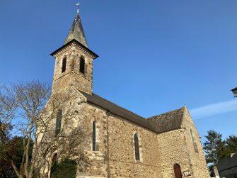 église Tréverien en bretagne romantique