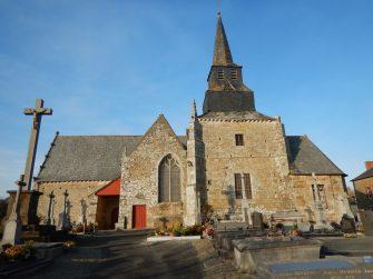 église la baussaine en bretagne romantique