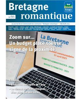 couverture du magazine de la Communauté de communes Bretagne romantique qui présente le budget 2021