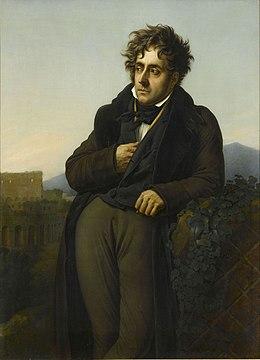 Francois René de Chateaubriand par Anne-Louis Girodet